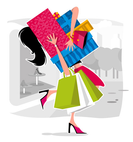 shopping-cartoon
